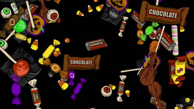 萬聖節糖果下阿爾法頻道 - halloween candy 個影片檔及 b 捲影像