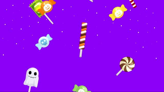萬聖節黑暗場景與甜糖果 - halloween candy 個影片檔及 b 捲影像