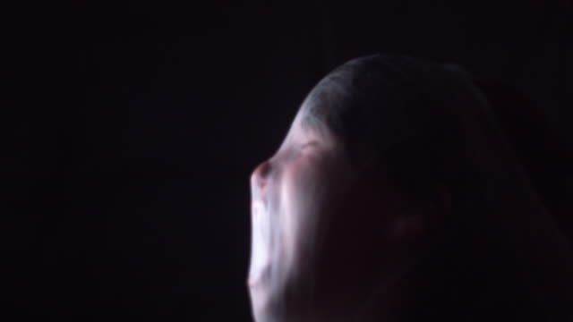 4K Halloween Horror Child Screaming in Spider Web video