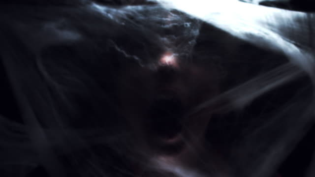 4K Halloween Horror Spider Web and Face Screaming video