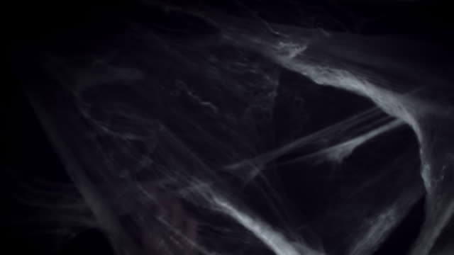 4K Halloween Horror Spider Web and Hand Silhouette video
