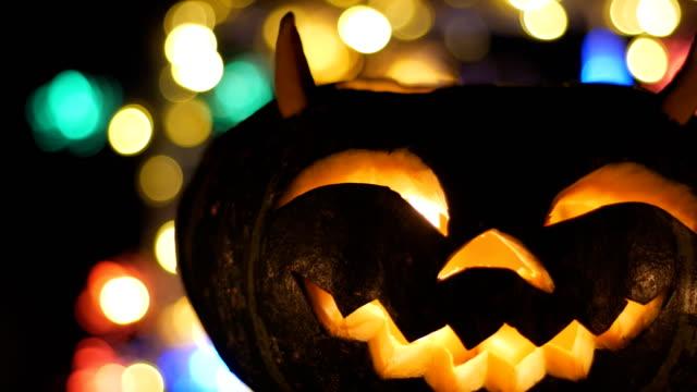 Halloween pumkin bokeh light background