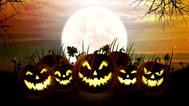 Halloween Pumpkin Background Animation video