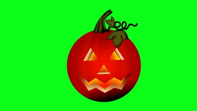 halloween pumpkin green screen - pumpkin stock videos & royalty-free footage