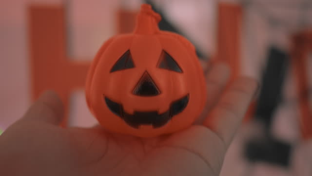 POV : Halloween Pumpkin Head