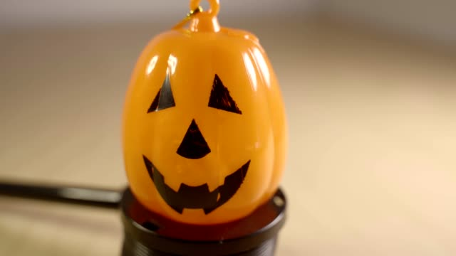 Halloween Pumpkin isolated against a blurry background