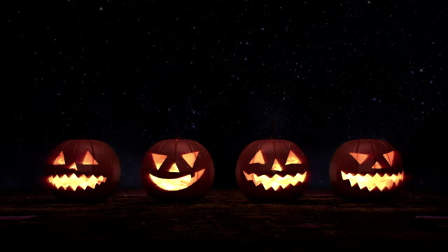 halloween pumpkin jack - pumpkin stock videos & royalty-free footage