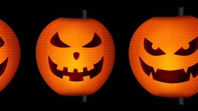 halloween pumpkin lanterns - японский фонарь стоковые видео и кадры b-roll