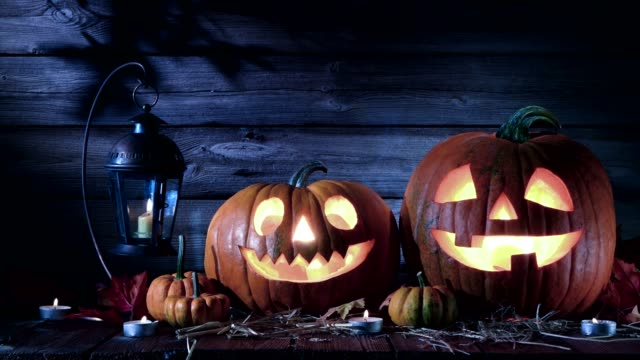 halloween pumpkin - incisione oggetto creato dall'uomo video stock e b–roll