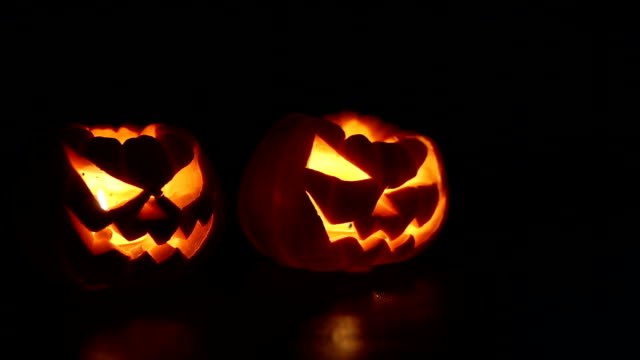 Halloween pumpkins smile video