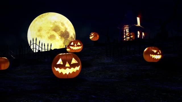 halloween kürbisse - halloween stock-videos und b-roll-filmmaterial