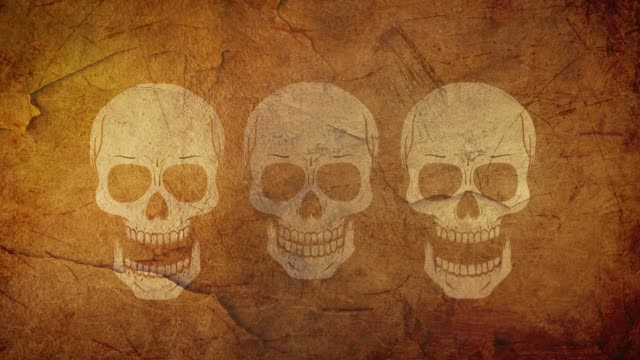 Halloween Scull - Animated Video - Different Scenes