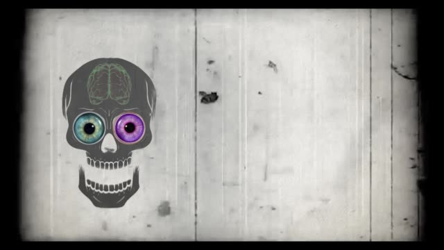 halloween scull - animated video - different scenes - halloween stock videos & royalty-free footage