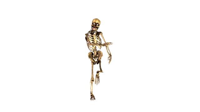 halloween-skelett hip-hop-tanz - halloween stock-videos und b-roll-filmmaterial