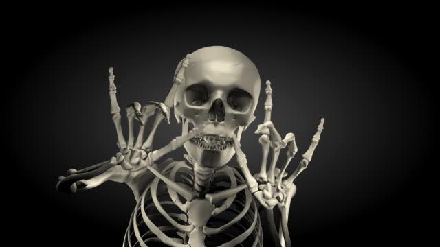 (Loop + Alpha) Halloween, Spokesman Skeleton video