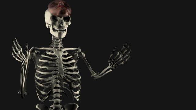 Halloween, Spokesman Skeleton with Mask video