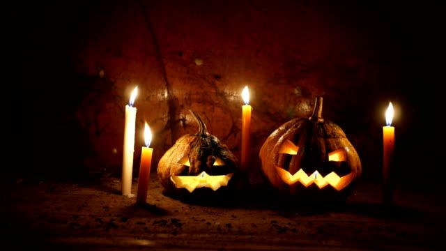 Halloween Two Pumpkins Jack-o-lantern