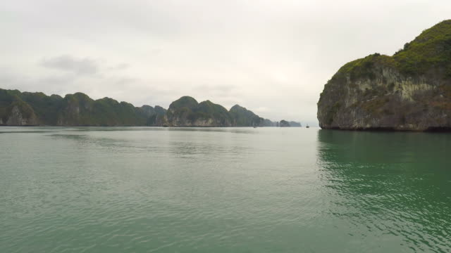 Halong Bay, Vietnam - Boat Cruising in the Bay of Thousand Islands video