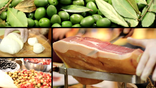 Ham, Olives and mozzarella - Italian food video
