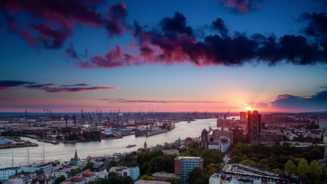 time lapse: hamburg - ports stock videos & royalty-free footage