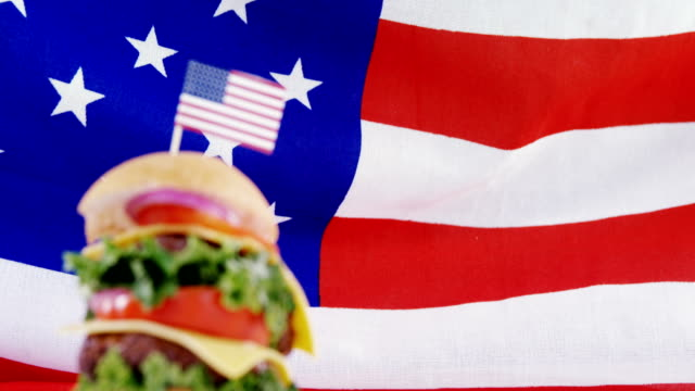Hamburger with 4th july theme video