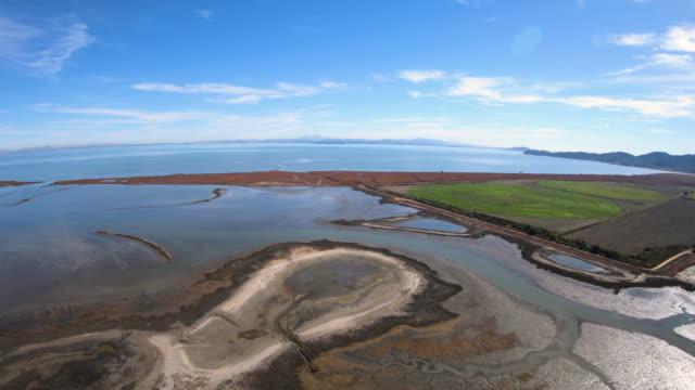 Hamilton Wetlands Aerial View San Pablo Bay Novato California Hamilton Wetlands Aerial View San Pablo Bay Novato California marsh stock videos & royalty-free footage