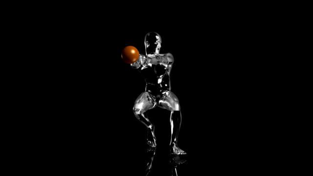 3D hammer throw man with technical data