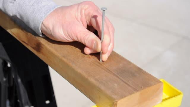 Hammering a nail video