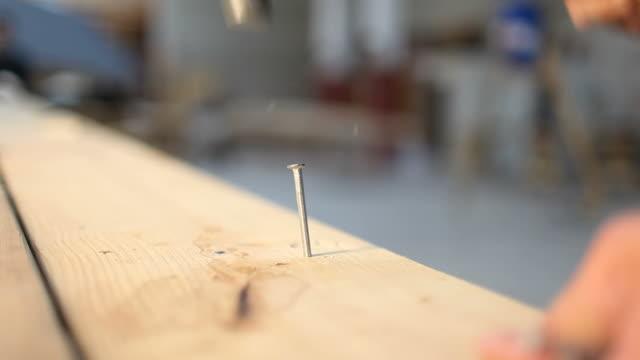 Hammering nails video