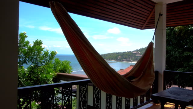 Hammock on Terrace with Sea View video
