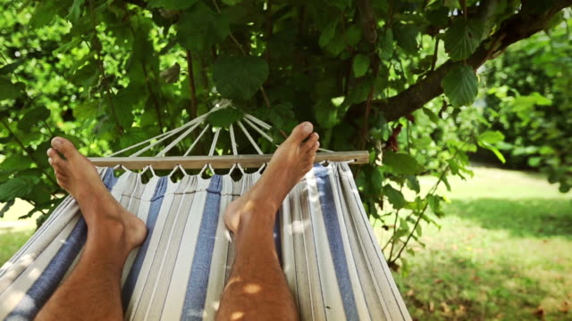 Hammock relaxing point of view video