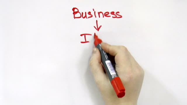 hand block diagram for business