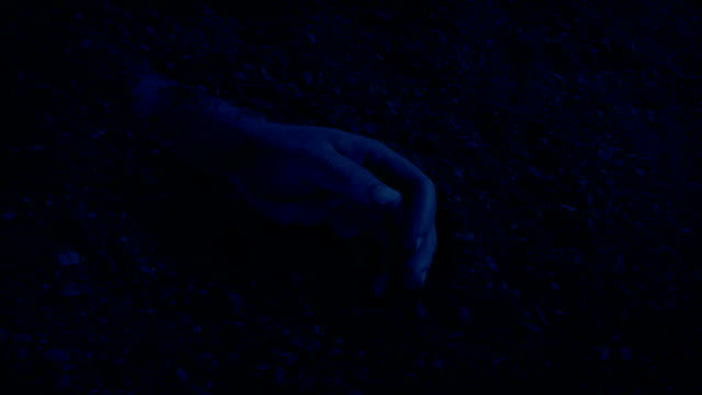 Hand Buried In The Ground At Night video