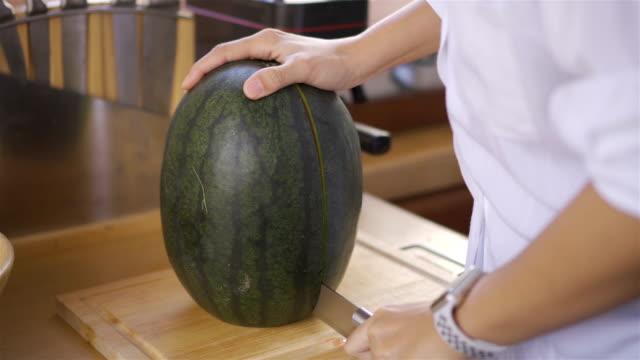 Hand cut watermelon