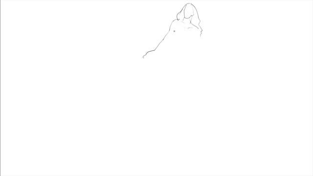 Hand Drawing Of Mermaid - Art Process