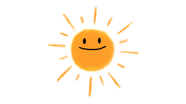 Hand drawn animation of sun
