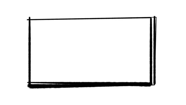 Hand drawn cartoon frame, animated border design
