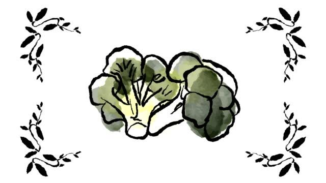 Hand Drawn Cartoon of Healthy Vegetables video