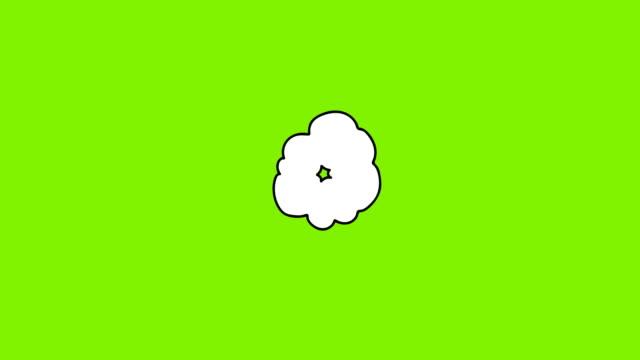 vídeos de stock, filmes e b-roll de frame desenhado mão pela animação do frame da explosão dos desenhos animados. brocas comic do estilo retro - músico pop