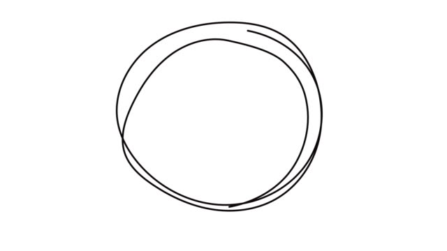 stockvideo's en b-roll-footage met hand drawn scribble circle, logo design element. - doodles