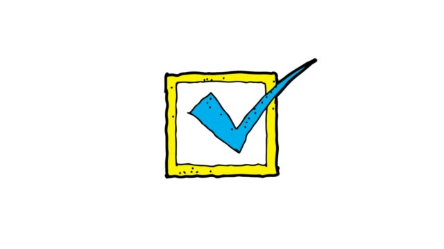 hand drawn White Background animation of check mark