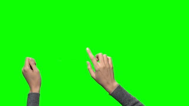 handgesten auf einem touchscreen - schriftrolle stock-videos und b-roll-filmmaterial