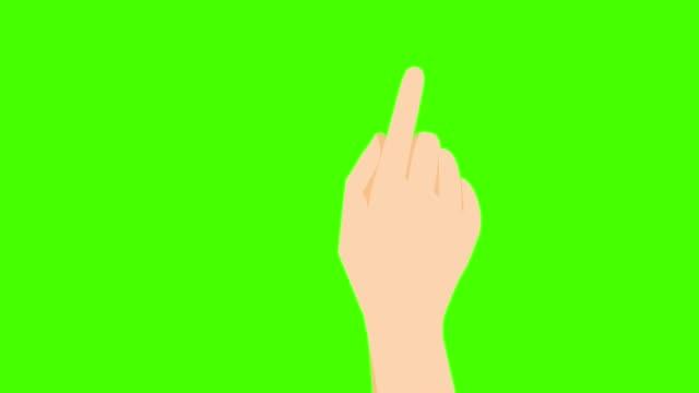 handgesten auf dem grünen bildschirm - computermaus stock-videos und b-roll-filmmaterial