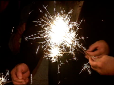 Hand Held Sparklers video