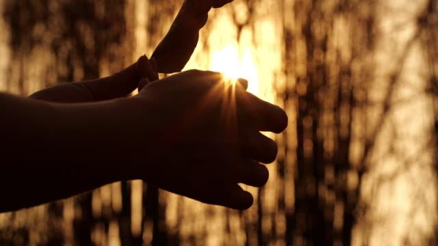 Hand holding autumn leaf