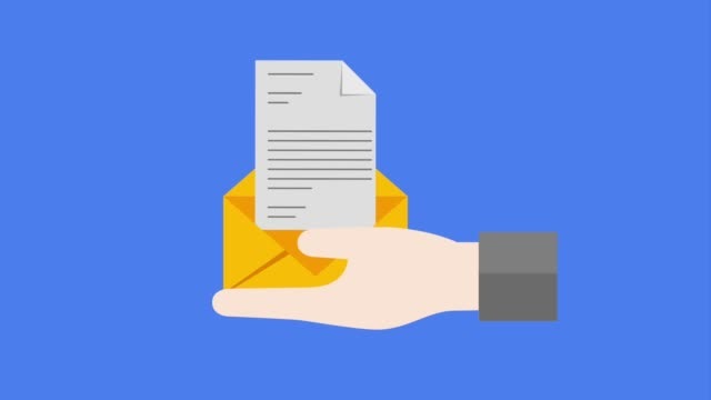 hand holding mail envelope paper message video