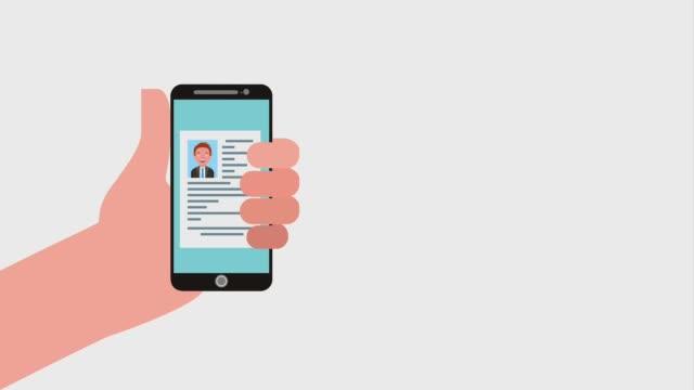 電話募集人員を持っている手 - 雇用と労働点の映像素材/bロール