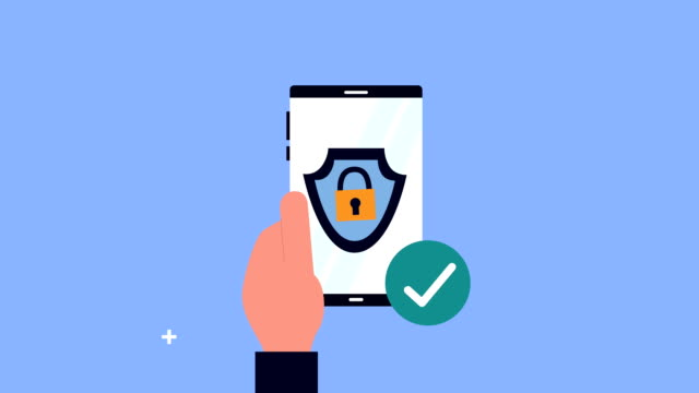 hand human using smartphone with security padlock hand human using smartphone with security padlock ,FullHD video animation padlock stock videos & royalty-free footage