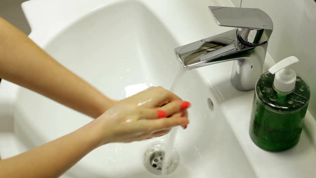 ハンド衛生ます。 - 洗う点の映像素材/bロール