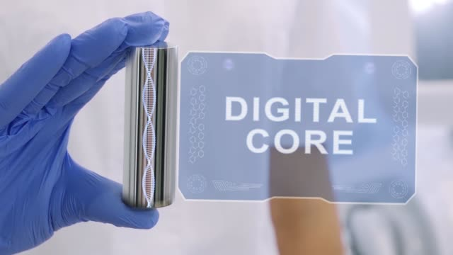 Hand in glove with hologram Digital Core